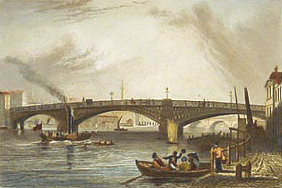 Southwark Bridge 1836, Tombleson